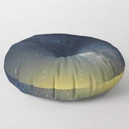 Milky Way bokeh Floor Pillow