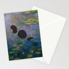 Lochness Monster in the Lillies Stationery Cards