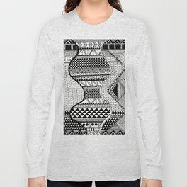 Wavy Geometric Patterns Long Sleeve T-shirt