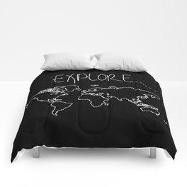 Explore World Map Comforters