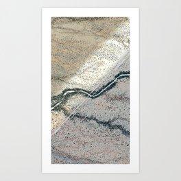 line glitch 2 Art Print