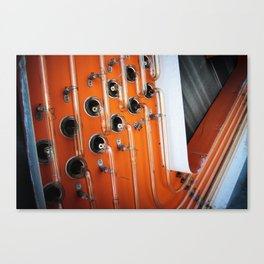 Orange Open Face Neon Sign Canvas Print