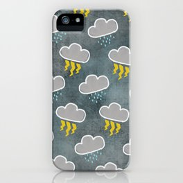 Rainy Day (Charcoal) iPhone Case