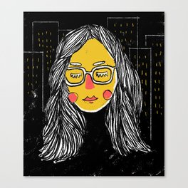 City Girl Megane Canvas Print
