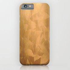 Brushed Copper Metallic - Rustic Glam - Fancy Faux Finishes Slim Case iPhone 6