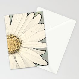 White Daisy Stationery Cards
