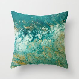 Mermaid Tails Resin Painting Throw Pillow