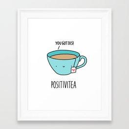 Positivitea Framed Art Print