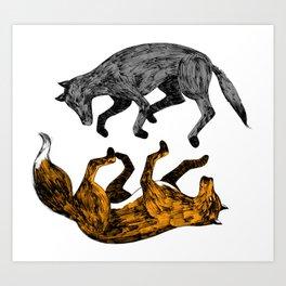 WOLF-FOX Art Print