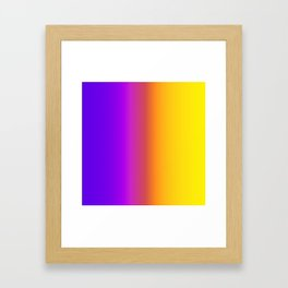 Yellow and Purple Saturated Gradient 006 Framed Art Print
