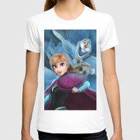 olaf T-shirts featuring Anna & Olaf  by Niniel