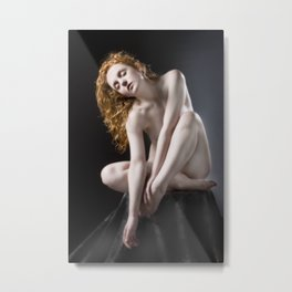 Redheaded Nude Metal Print