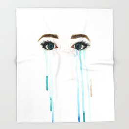 Tears Throw Blanket