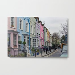 Chelsea Row Houses home of George Smiley in Chelsea London England Metal Print