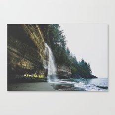 Waterfall into the Ocean Canvas Print