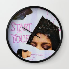 start with yourself Wall Clock