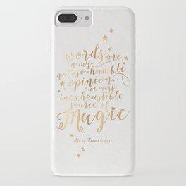 Dumbledore's Magic Words iPhone Case