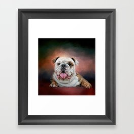 Hanging Out - Bulldog Framed Art Print