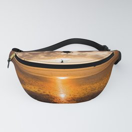 Helicopter sunset Fanny Pack