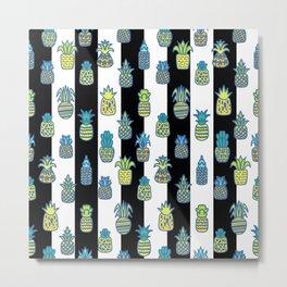 Pineapples Pattern Cute 415 Metal Print