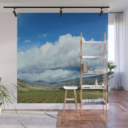 Farmers Fields and Rolling Hills Wall Mural