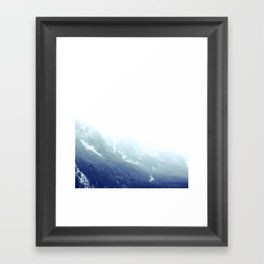 Snowy gradient Framed Art Print