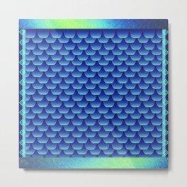 Blue Dragon Scales Metal Print