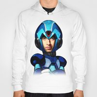 megaman Hoodies featuring Megaman wolowitz by seb mcnulty