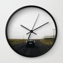 Dark Roads Wall Clock