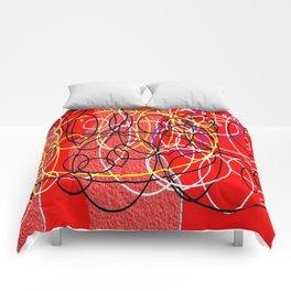 Geometric multicolor Comforters