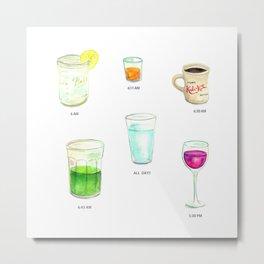 Daily Liquid Consumption Metal Print