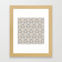 Grey Taupe Hexagon Star Pattern Framed Art Print