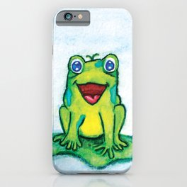 Happy Frog - Watercolor iPhone Case