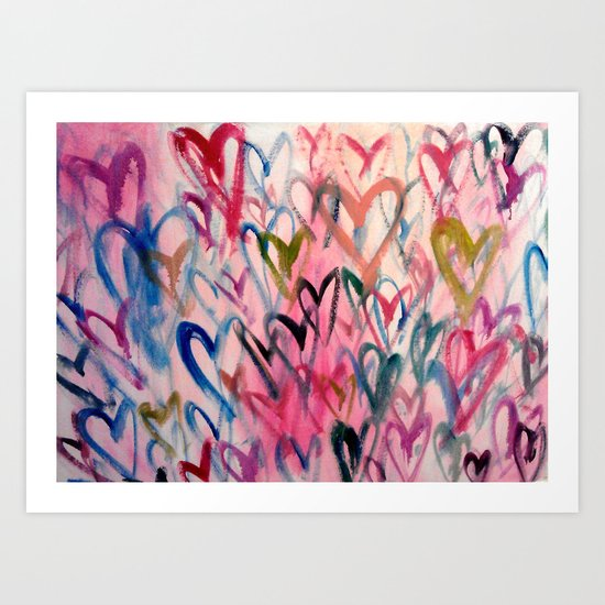 My Love Heart Art Print