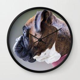 Boxer Boy Dog Wall Clock