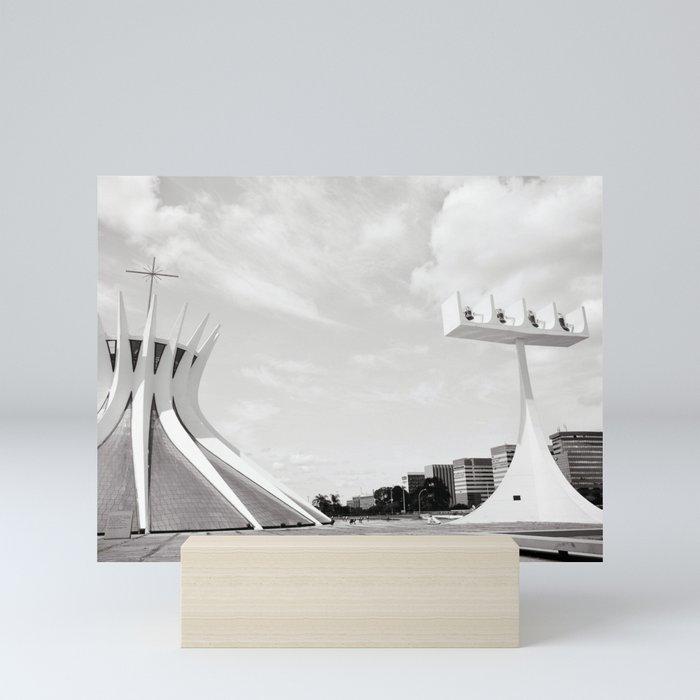 Brasilia's Cathedral | Niemeyer Architect Mini Art Print