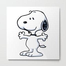 snoopy funny tears Metal Print