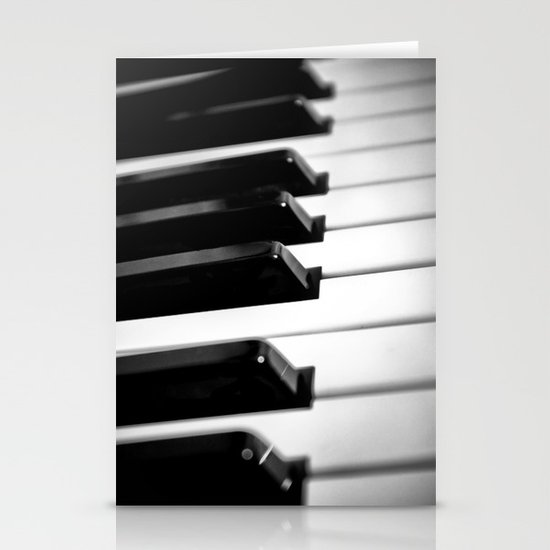 Black & White Piano Keys Stationery Cards
