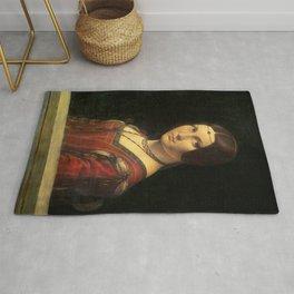 Leonardo da Vinci - Ritratto di donna, dice La Belle Ferronnière Rug