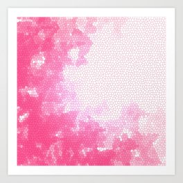Pink stained glass Art Print