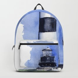 Bodie Island Lighthouse loose watercolor painting Backpack