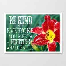 Be Kind - In Red Canvas Print
