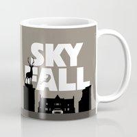 skyfall Mugs featuring SKYFALL by Vector Vectoria
