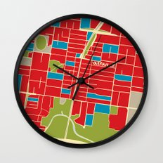 Vintage Style Map of Yarraville Wall Clock