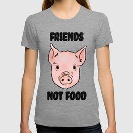 Cute Pig Vegan Friends Not Food Illustration T-shirt