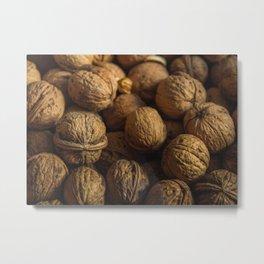 Nut Pattern Metal Print