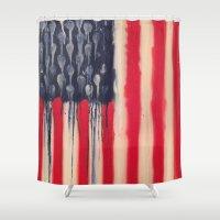 america Shower Curtains featuring America  by Matt Pecson