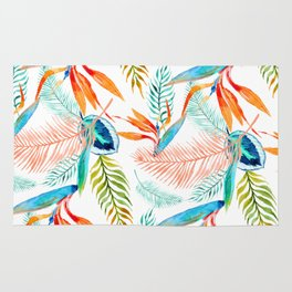 birds of paradise pattern Rug