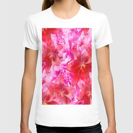Peony And Lily Flower Bouquet In Vibrant Pink And Red Colors #decor #society6 #buyart T-shirt