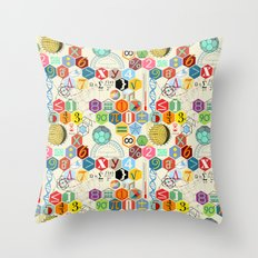 Math in color (little) Throw Pillow